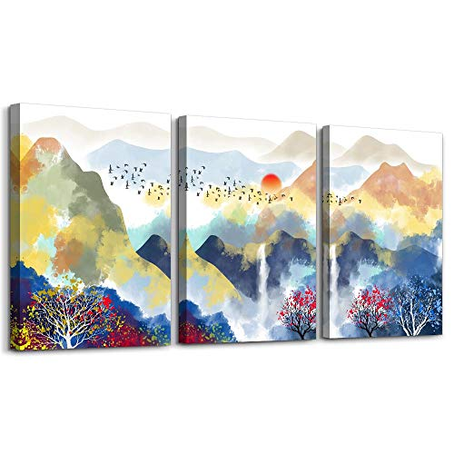 Abstract Mountain Landscape Watercolor