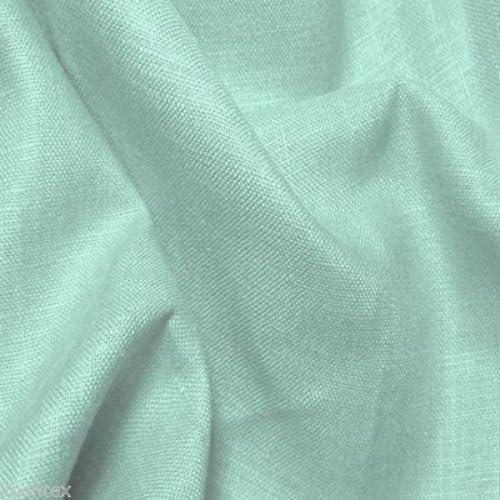 100% European Linen Fabric By the Yard Camiso Lino 5oz. - SUMMER MINT Home Decor Drapery
