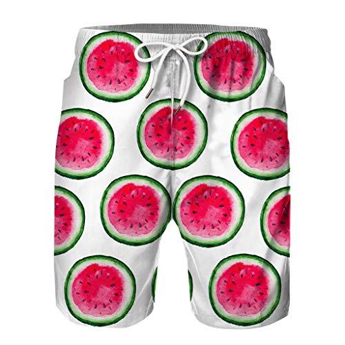 - Men's Swimwear Clearance Sale, Youth Adult Fruit 3D Print Beachwear Matching Boardshorts Casual Beach Shorts Loose Pants lkoezi