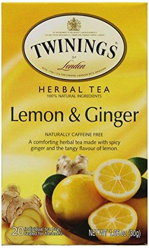 Twinings Thé parfumé, citron & gingembre chinois, 20 Teabag Box (Pack de 6)