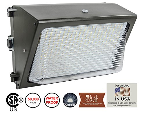 Lights of America 65 Watt Dusk to Dawn LED Wall Pack (91465E2-BR5)