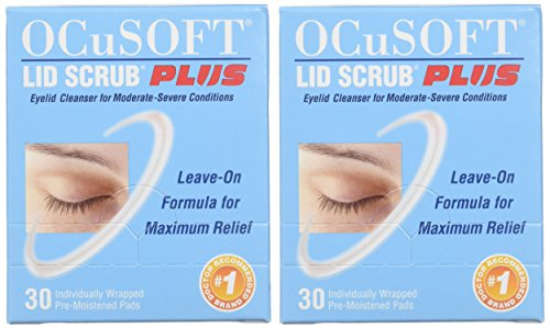 OCuSOFT Lid Scrub Plus, Pre-Moistened Pads, Individually Wrapped, 30 Pads (Pack of 2) by OCuSOFT (Image #1)