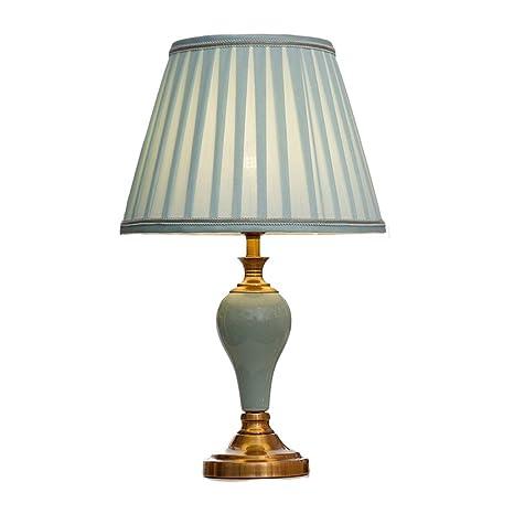Lámpara de mesa de cerámica creativa europea LED Lámpara de ...