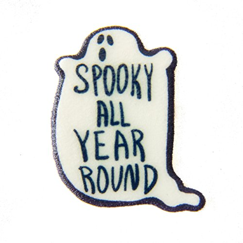 Ectogasm Black and White Halloween Horror Pin -