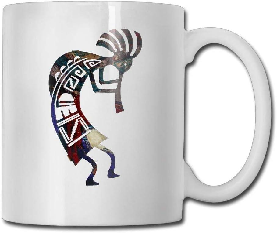 Taza de té de cerámica, tazas de café de cerámica Kokopelli frescas, taza de cerámica saludable insípida perfecta para el turismo, regalo del día de las madres,11 Oz