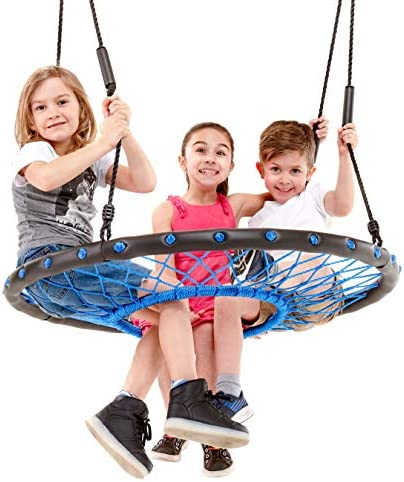 Smartsome Spider Web Tree Swing – 40 Inch Tire Swing for Hours of Outdoor Fun, Soft Handles On Rope Swing Patented Easy Assembly, Great Kids Swing for Trees Or Playsets.