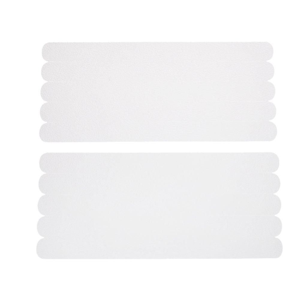 Sharplace 10pcs Tiras Adhesivas De Seguridad Tina Apliques De Ducha Antideslizante Banda De Rodadura DE 19 Mm * 216 Mm No non-brand