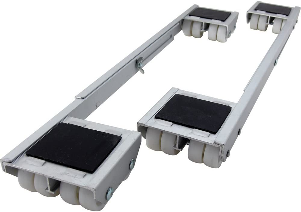 Dark gray Join Ware Square Universal Heavy Duty Expandable Appliance Roller Pair Adjusts For Move Your Heavy Power Tools and Equipment around Your Shop with Ease and Stability