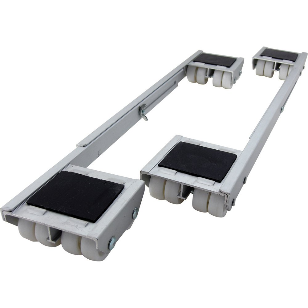 Shepherd Hardware 9603 Adjustable Aluminum Appliance Rollers, 2-Pack