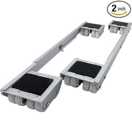 Shepherd Hardware 9603 Adjustable Aluminum Appliance Rollers, 2-Pack ...
