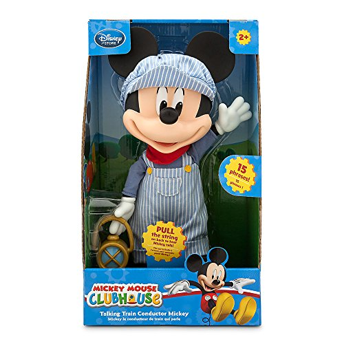 Disney Mickey Mouse Clubhouse Talking Train Conductor Mickey Doll