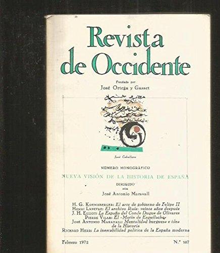 REVISTA DE OCCIDENTE. NUMERO 107: NUEVA VISION DE LA HISTORIA DE ESPAÑA: Amazon.es: VARIOS, VARIOS, VARIOS: Libros