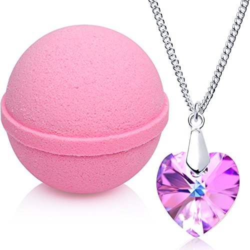 Love Potion Bath Bomb with Necklace Created