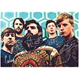Foals Autographed Signed A4 21cm x 29.7cm Poster Photo by Unknown