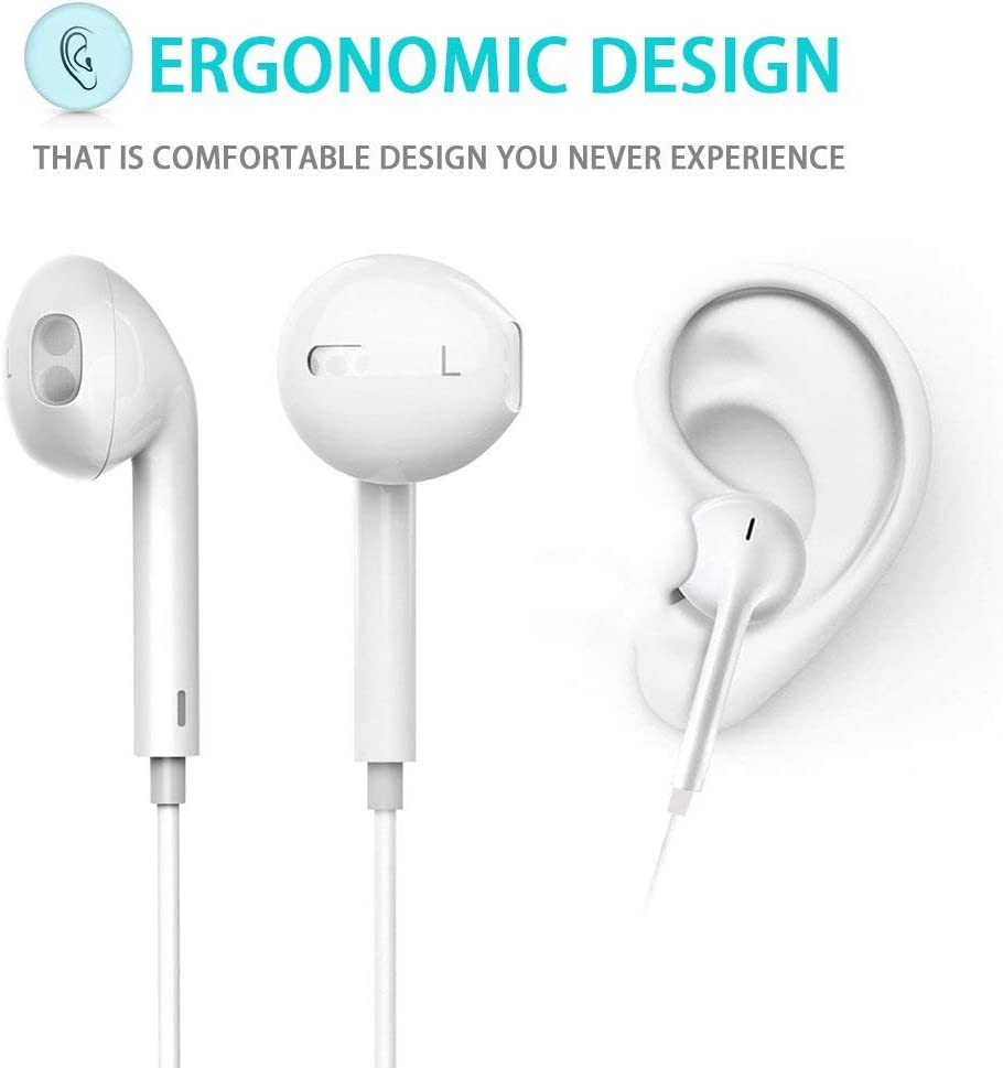 Gaming Earphone, Rusido Stereo E-Sports Earbuds Bass in-Ear Headphones with Dual Mic 3.5 MM Supports for Nintendo Switch, PS4, PC Laptop and Smart Phone