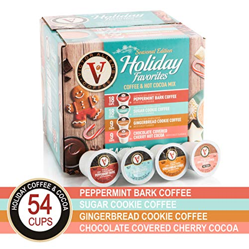 - Holiday Favorites for K-Cup Keurig 2.0 Brewers, 54 Count Victor Allen's Coffee Single Serve Coffee Pods