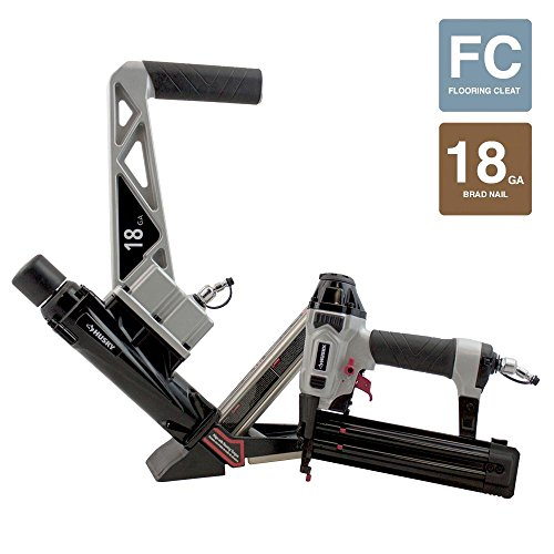 Husky Pneumatic 18-Gauge Engineered and Exotic Hardwood Flooring Nailer and Brad Nailer Combo Kit (2-Piece)