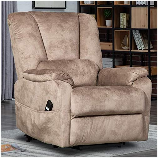 CANMOV Power Lift Recliner Chair for Elderly- Heavy Duty and Safety Motion Reclining Mechanism-Antiskid Fabric Sofa…