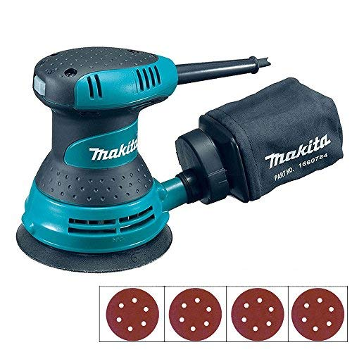 Makita BO5030 125mm 5' Random Orbital Sander 240V with Extra 40 Sanding Pads