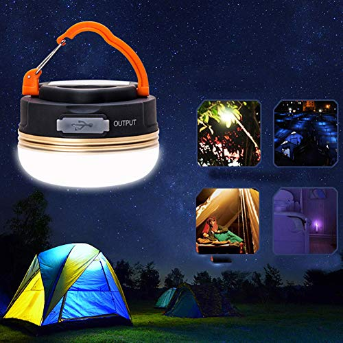 Flashlights High Lumens&Portable 3 Modes Rechargeable Hanging Camp LED Light Waterproof Emergency Lamp&Perfect for Indoor & Outdoor Camping Emergency ()