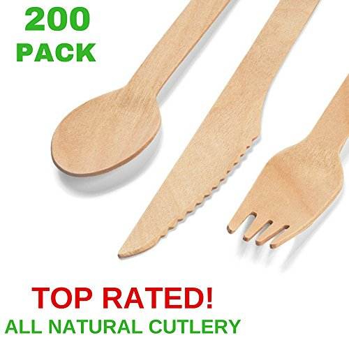 Foam Cowboy Hat Pink (Disposable Wooden Cutlery Set |200 Piece| 100 Forks, 50 Spoons, 50 Knives |Eco-Friendly, Biodegradable, Compostable and Natural Wooden Utensils for Weddings, Outdoor Party supplies, Camping, Birthdays)
