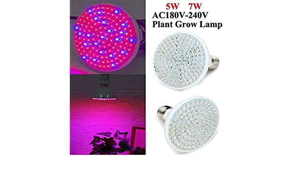 5W 7W E27 Garden Plant Growth LED Bulb Greenhouse Plant Seedling Light