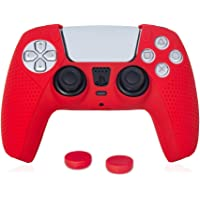EASEGMER Silicone Cover Skin Case for PS5 Dualsense Controller, Soft Controller Silicone Case Grips for PS5, Protector…
