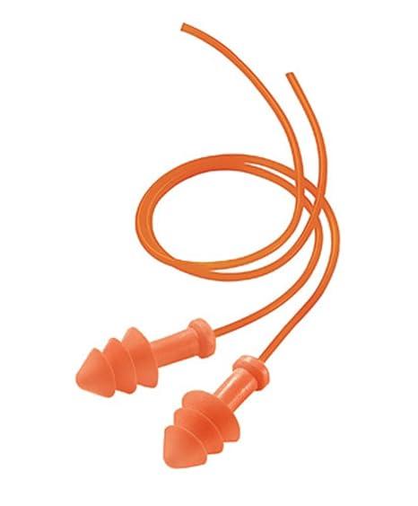 Uso Triple Brida naranja Poliuretano y abrazadera de tapones para los oídos de espuma [Juego