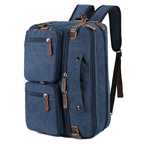 BAOSHA Convertible Briefcase Backpack 17 Inch Laptop Bag Case Business Briefcase HB-22 (Blue)