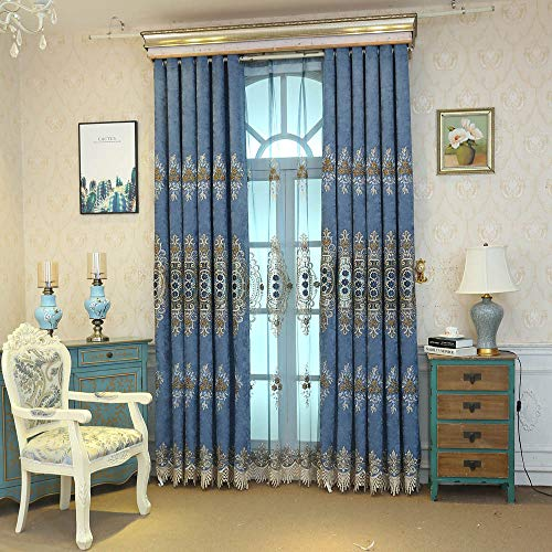 pureaqu Luxury European Style Window Curtain Panels Room Darkening Grommet Draperies for Bedroom/Sliding Glass Door Room Divider Energy Saving/Light Blocking Curtains 1 Panel W39 x H84 inch