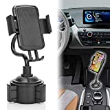 Cup Holder Phone Holder for Car, Universal Adjustable Gooseneck Cup Holder Car Mount for Cell Phones iPhone Xs/SX Max/X/8/7 Plus/Galaxy