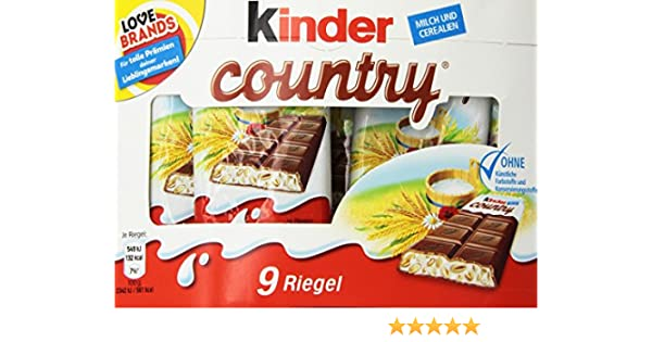 Kinder Country Milk Chocolate with Rich Milk Filling (9s) : Amazon ...