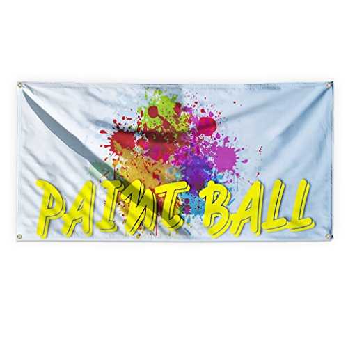 Paint Ball Outdoor Advertising Printing Vinyl Banner Sign With Grommets - 3ftx6ft, 6 (3' Vinyl Ball)