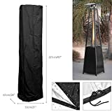 dDanke Polyester Patio Heater Heavy Duty Waterproof Triangle Glass Tube Heater Cover for Outdoor, 87''x21''x24''