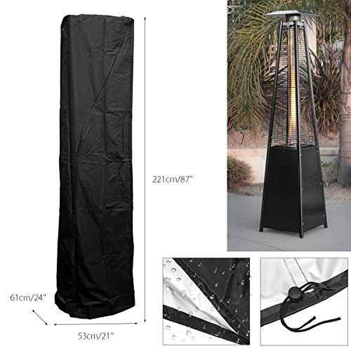dDanke Polyester Patio Heater Heavy Duty Waterproof Triangle Glass Tube Heater Cover for Outdoor (2215361cm) by dDanke