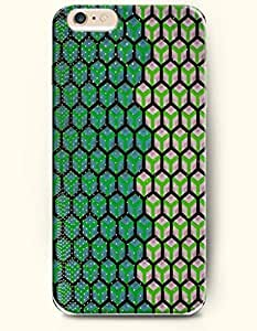 Green And Brown Hexagon - Geometric Pattern - Phone Cover for Apple iPhone 6 Plus ( 5.5 inches ) - SevenArc Authentic... by supermalls
