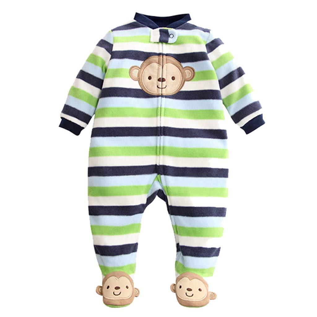 Baby Fleece Romper Cartoon Footies Jumpsuit Spring/Autumn/Winter Bodysuit Cute Sleepsuit 6-9 Months Vine Trading Co. Ltd K180910PF00203V