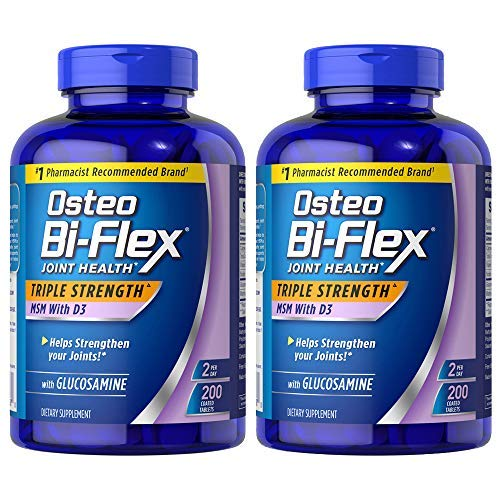 (pack of 2) Osteo Bi-Flex Glucosamine with MSM - 200 Tablets (Total 400 Tablets) by Osteo Bi-Flex