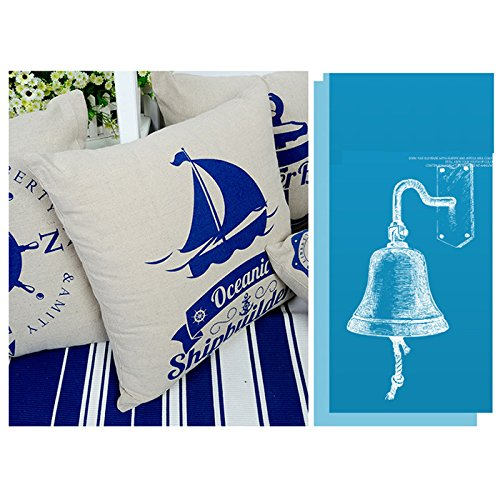 {Factory Direct Sale} New Retro Soft Luxury Cotton&Jute Square Nautical Throw Pillow Cushion Case Cover Home Office Car Sofa Room Bed Decor Gift