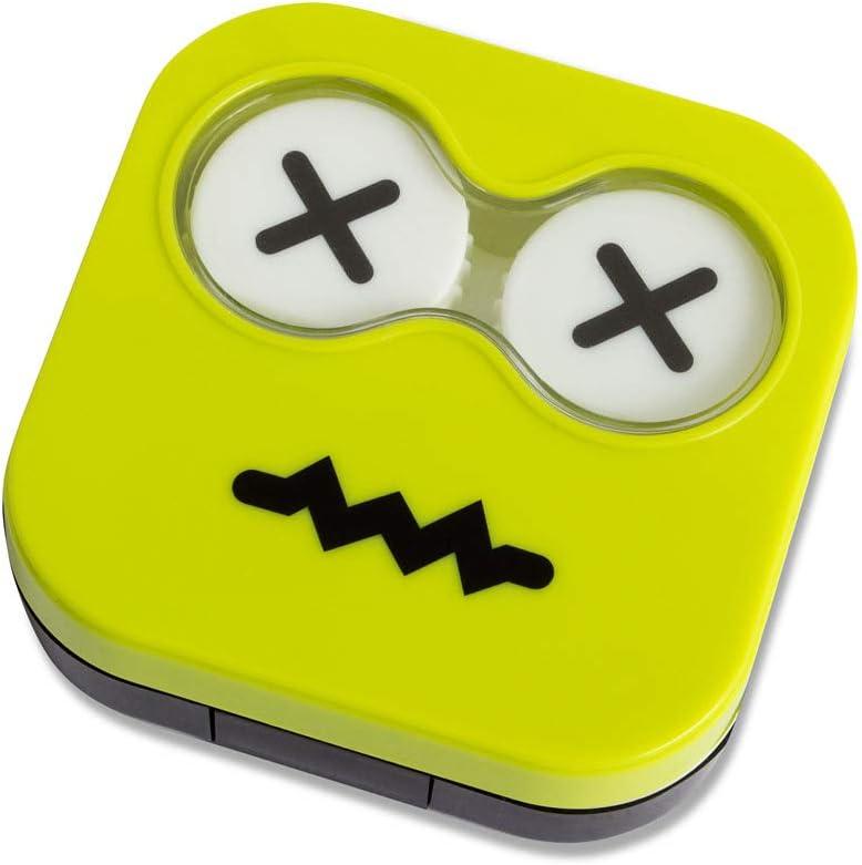 Balvi Estuche lentillas Emoji Color Verde Caja para lentillas ...