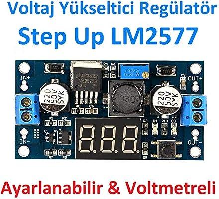 LM2577 3-34V to 4-35V 5V//12V 2.5A Step-up Adjustable Volt Regulator Board Module