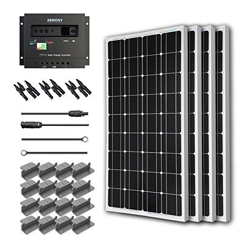 Renogy 400 Watt 12 Volt Monocrystalline Solar Starter Kit with Wanderer