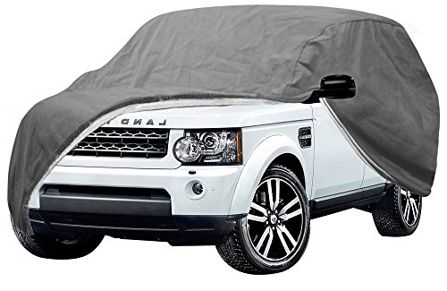 OxGord Signature Auto Cover - 100 Water-Proof 5 Layers - True Mastepiece - Ready-Fit Semi Glove Fit for SUV, Van Truck - Fits up to 206 Inches OxGord SUV Covers