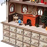 WHAT ON EARTH LED Lighted Santa's Workshop Wooden