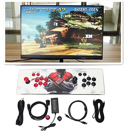 1299 Video Games Metal Led Double Arcade Stick Console Pandora's Box 5s Game Machine by OMG_Shop