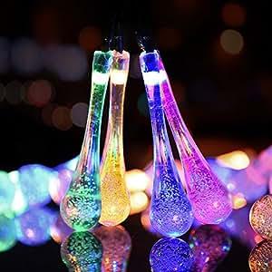 Solar–Lámpara gotas de agua f ¨ ¹ hrte (Color)