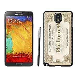 Armor Protective Case for Galaxy Note 3 Case,Samsung Galaxy Note 3 Protective S View Coer Protective Case Hogwarts Express Train Ticket Samsung Galaxy Note 3 Case Black Cover