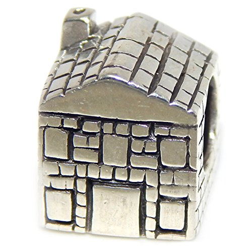 Solid 925 Sterling Silver  Home Sweet Home House  Charm Bead