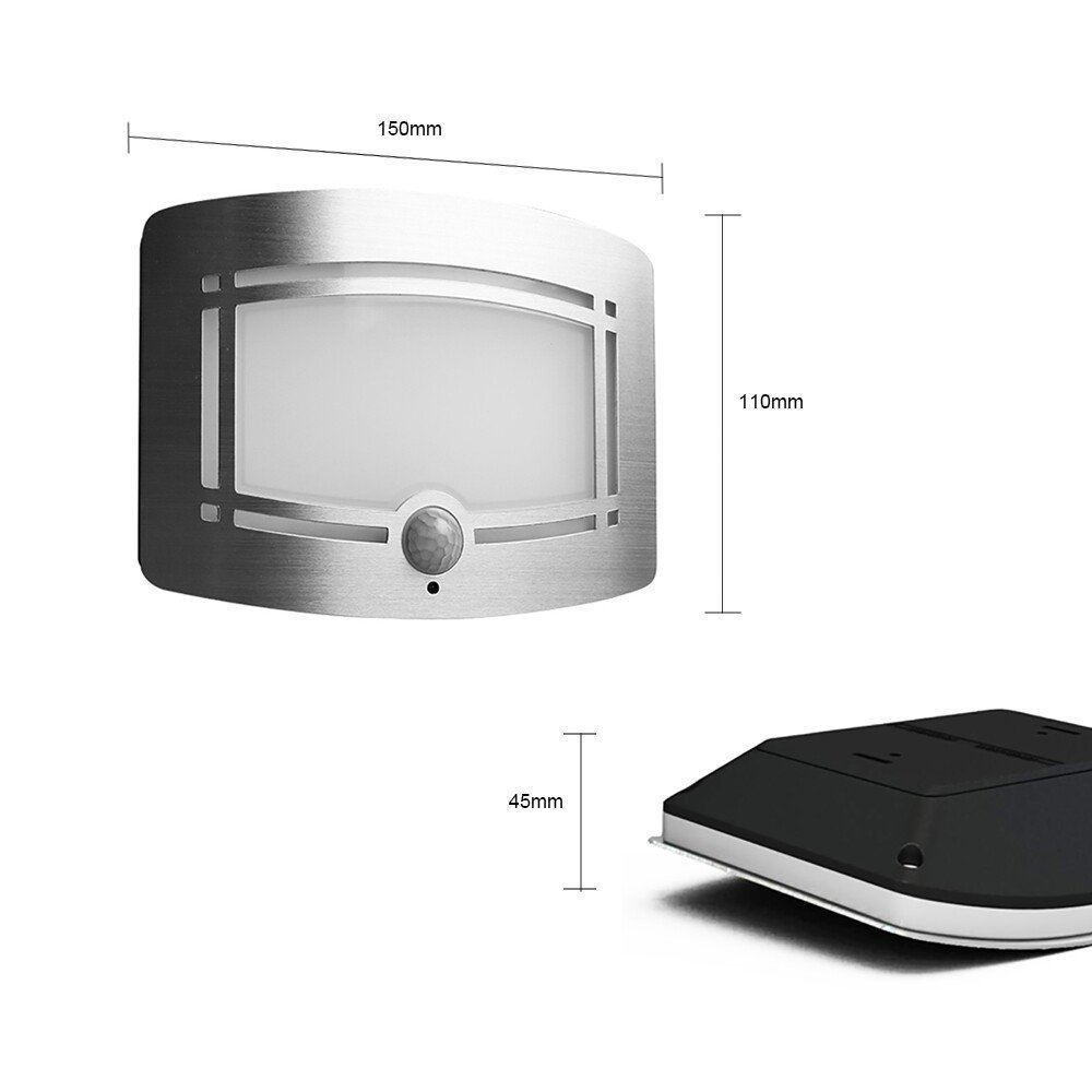 Fding LED Wall Light Light-operated Motion Sensor Nightlight Activated Battery Operated Wall Sconce by Fding (Image #2)