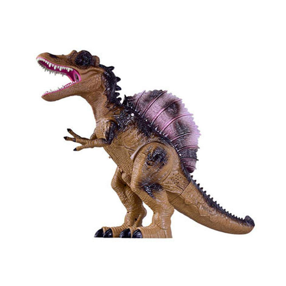 Ultra-Realistic Electronic Dinosaur Children's Funny Toys Multi-Function Walking Dinosaur Spray Flash The Best Gift for Kids(B)